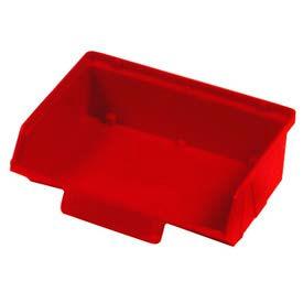 """Quantum Plastic Stack And Lock Bin QCS220 with ID Tab 8-7/8""""W x 7""""D x 2-7/8""""H Red - Pkg Qty 24"""