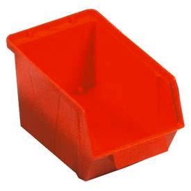 """Quantum Plastic Stack And Lock Bin QCS30 with ID Tab 5-7/8""""W x 10-14""""D x 5-1/8"""" Red - Pkg Qty 12"""