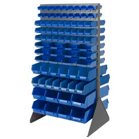 Double Side Rack with 156 Mixed Sizes of Stack and Lock Bin