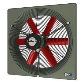 "Multifan Panel Fan 14"" Diameter Single Phase 120v With Grill"