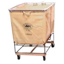 Dandux White Canvas Elevated Basket Bulk Truck 400130C04 4 Bushel Capacity