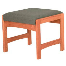 One Person Bench - Medium Oak/Gray Fabric