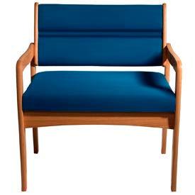 Bariatric Standard Leg Chair - Medium Oak/Blue Vinyl
