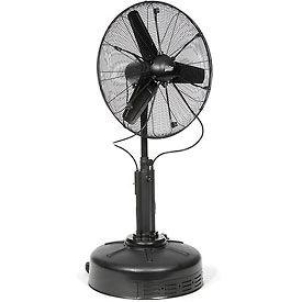 "Auramist 30"" Pedestal Misting Fan Oscillating and Portable AM11MF30-1"