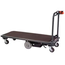 Mid-Axle Motorized Platform Cart 27x60 1500 Lb. Capacity