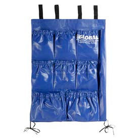 """9 Pocket Utility Bag for Recycling 1 Cu. Yd. Tilt Trucks 19"""" W x 27"""" H"""