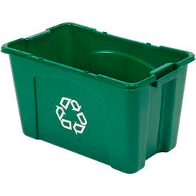 Rubbermaid Recycling Box - 18 Gallon Green