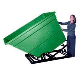 Bayhead Products Green Plastic Self-Dumping Forklift Hopper 2.2 Cu Yd