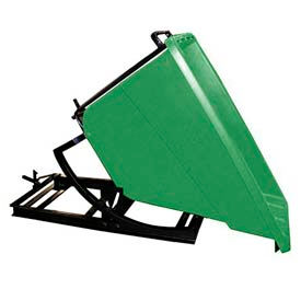 Bayhead Products Green Plastic Self-Dumping Forklift Hopper 5/8 Cu Yd