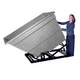 Bayhead Products Gray Plastic Self-Dumping Forklift Hopper 2.2 Cu Yd
