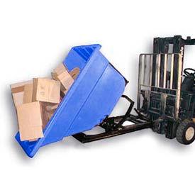 Bayhead Products Blue Plastic Self-Dumping Forklift Hopper 1.1 Cu Yd