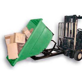 Bayhead Products Green Plastic Self-Dumping Forklift Hopper 1.1 Cu Yd