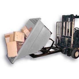 Bayhead Products Gray Plastic Self-Dumping Forklift Hopper 1.1 Cu Yd