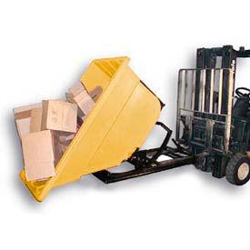 Bayhead Products Yellow Plastic Self-Dumping Forklift Hopper 1.1 Cu Yd