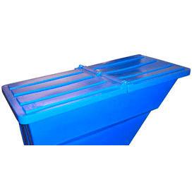 Blue Hinged Lid for Bayhead Products 1.1 Cu Yd Self-Dumping Plastic Hopper