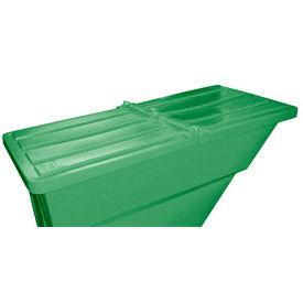 Green Hinged Lid for Bayhead Products 1.1 Cu Yd Self-Dumping Plastic Hopper