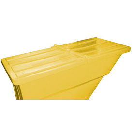 Yellow Hinged Lid for Bayhead Products 1.1 Cu Yd Self-Dumping Plastic Hopper