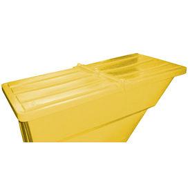 Yellow Hinged Lid for Bayhead Products 1.1 Cu Yd Self-Dumping Plastic Hopper