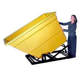 Bayhead Products Yellow Plastic Self-Dumping Forklift Hopper 1.7 Cu Yd