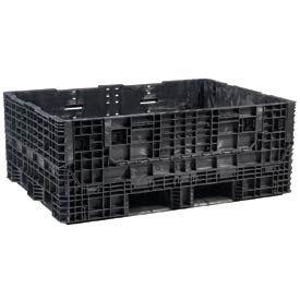 Buckhorn Folding Bulk Shipping Container - BS6448340210002 - 64-1/2x48x34 2000 Lbs. Black