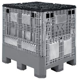 Buckhorn Folding Bulk Shipping Container - BG4840460251001 - 48x40x46 1200 Lbs. Light Gray