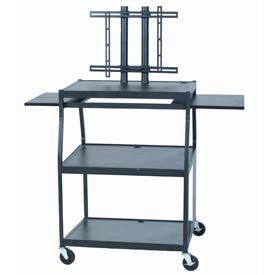 Wide Body Flat Panel TV Cart - Black