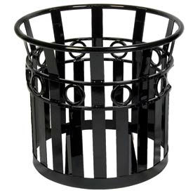 Large Round Outdoor Planter with Plastic Liner - Black