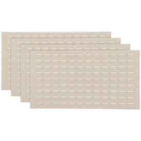 Louvered Wall Panel Without Bins 36x19 Tan - Pkg Qty 4