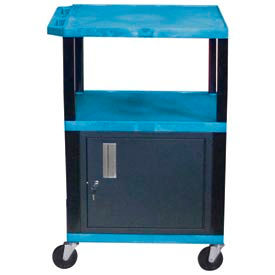 Luxor WT42C2 Blue Tuffy Garage & Shop Utility Cart with Cabinet 250 Lb. Cap. by