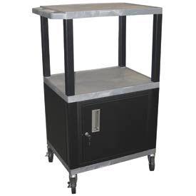 Luxor WT42C2 Gray Tuffy Garage & Shop Utility Cart with Cabinet 250 Lb. Cap.