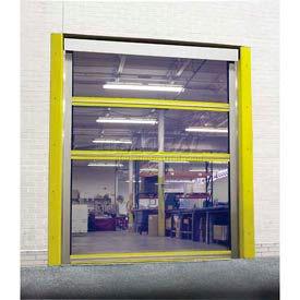 TMI Spring-Loaded Roll-Up Bug Screen Dock Door with 11 oz Mesh Panels 8 x 9 - FS-STM-IJ-8X9MESH