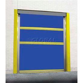 TMI Motorized Roll-Up Bug Dock Door with PVC Coated Blue Vinyl Panels 10 x 10