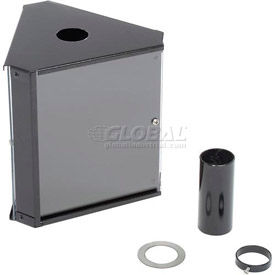 3 Panels Smokers Message Center Black