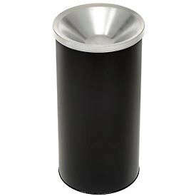"Steel Smoker Sand Urn Black With Aluminum Top 10"" Dia. X 20""H - 2000BK"