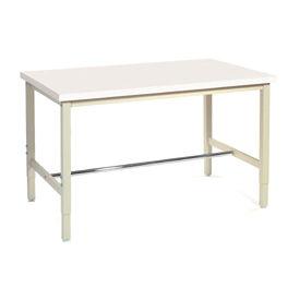 "96""W x 30""D Production Workbench - Plastic Laminate Square Edge - Tan"
