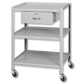 "Pucel™ TU-1925-3-1D Mobile Table 3 Shelves 1 Drawer 5"" Casters 25 x 19"