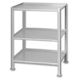 """Pucel™ TU-1925-3 Shop Stand 3 Shelves with Foot Pads - 25""""L x 19""""W"""
