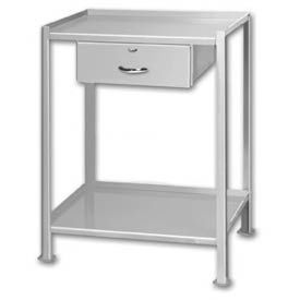 "Shop Stand 2 Shelves 1 Drawer with Foot Pads - 24""L x 23""W"