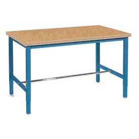 "72""W x 36""D Production Workbench - Shop Top Safety Edge - Blue"