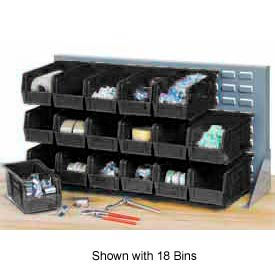 """Quantum QBR-2721-220-24CO Bench Rack With 24-7-3/8""""D Conductive Stacking Bins, 27x8x21"""
