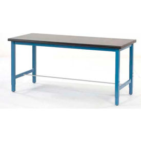 "60""W x 30""D Production Workbench - Phenolic Resin Safety Edge - Blue"