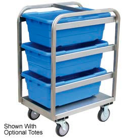 Stainless 3 Tote Box All Welded Cart