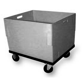 Bayhead JCP-1-C Plastic Container With Dolly 26x22x21-1/2