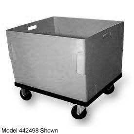 Bayhead TC-20-C Plastic Container With Dolly 27-1/2x27-1/2x24-1/4