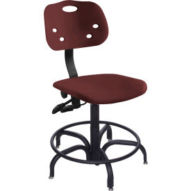 """BioFit ArmorSeat 24 Hour Antimicrobial Chair - 24 - 31"""" Seat Ht. - Burgundy"""