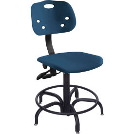 "BioFit ArmorSeat 24 Hour Antimicrobial Chair - 17 - 21"" Seat Ht. - Blue"