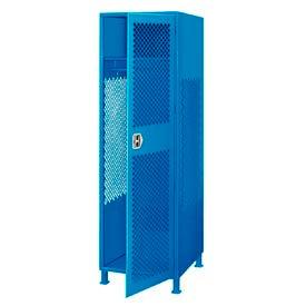 Pucel All Welded Gear Locker With Door And Legs 24x18x72 Blue