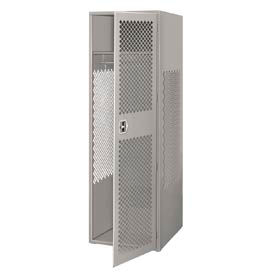 Pucel All Welded Gear Locker With Door 24x24x72 Gray