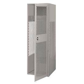 Pucel All Welded Gear Locker With Door 24x24x72 Gray