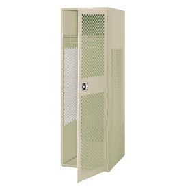 All Welded Gear Locker With Door 24x24x72 Putty